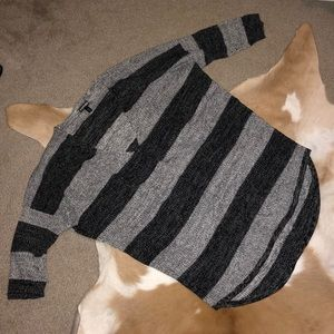 Black and grey express sweater